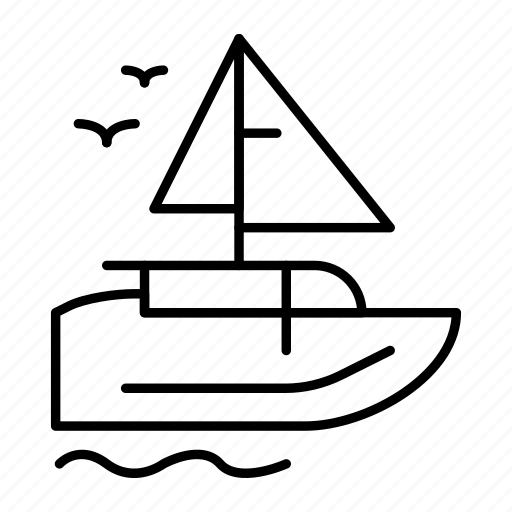 boat, ship, transport, vessel icon
