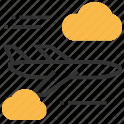 airplane, traffic, transport, transportation, travel icon