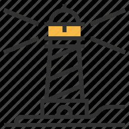 creative, design, idea, light, lighthouse icon