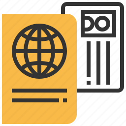 business, card, id, passport, tourism, travel icon