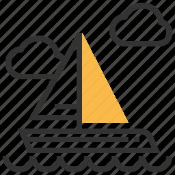 boat, transportation, travel, yacht icon