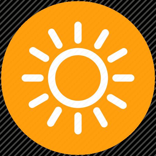 brightness, hot, solar, summer, sun, sunlight, sunshine icon