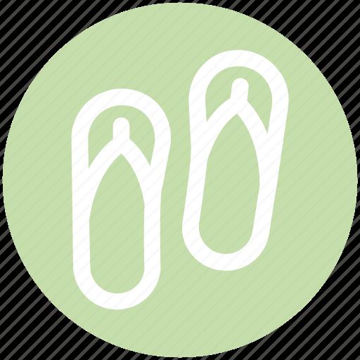 fashion, footwear, sandal, slipper, slippers, wear icon