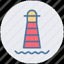 building, light house, marine, place, sea, seamark icon