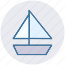 boat, sail, sailor, ship, shipping, trip icon
