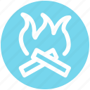 .svg, camp, camping, fire, flame, hot icon