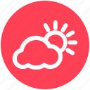 .svg, cloud, sun, sun and cloud, sunset, weather icon