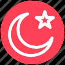 .svg, islam, moon, moon and star, night, star, symbolic moon