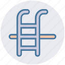 pool stairs, pool steps, summer, swimming, swimming pool, water waves icon