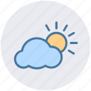 cloud, sun, sun and cloud, sunset, weather icon