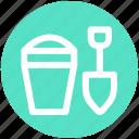 .svg, beach, bucket, game, sand, shovel, toy icon