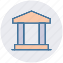 bank, business, commercial, courthouse, office icon