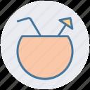 bowl, coconut, coconut juice, drink, food, juice