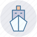 boat, cruise, sailing, ship, shipyard, travel icon