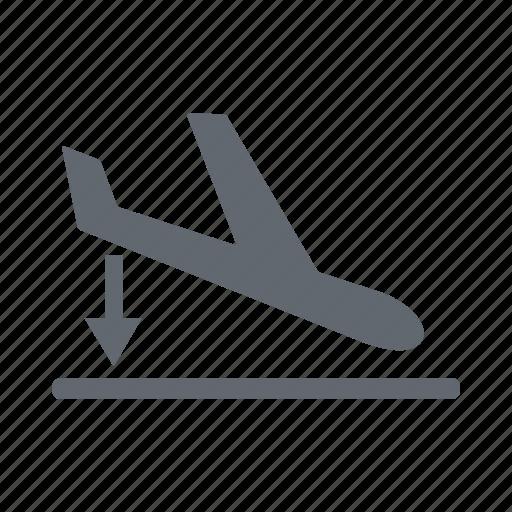 airplane, landing, tourism, travel icon