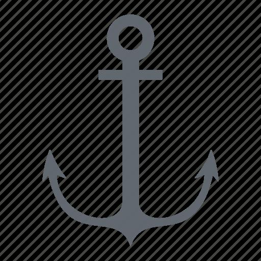anchor, boat, sea, travel icon