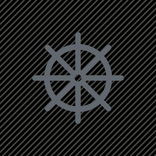 handwheel, sea boat, travel icon