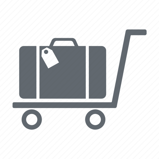 baggage, delivery, luggage, trolley icon