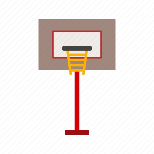 ball, basketball, court, goal, match, post, sports icon