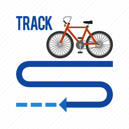bicycle, bike, city, sport, town, track, tyre icon