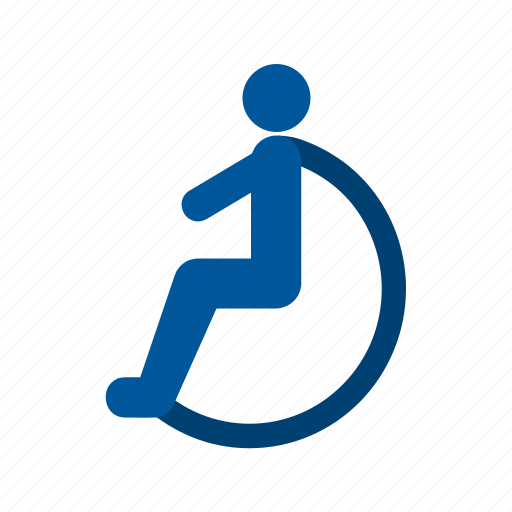 disability, disabled, handicapped, outside, person, wheelchair, work icon