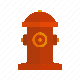 emergency, fire, firefighter, hydrant, safety, town, water icon