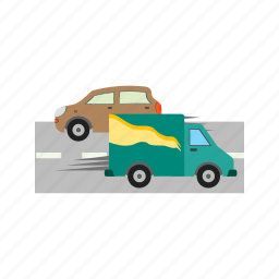 cars, city, road, rush, street, town, traffic icon