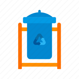 dustbin, recycle, recycle bin, town, trash, waste, waste bin icon