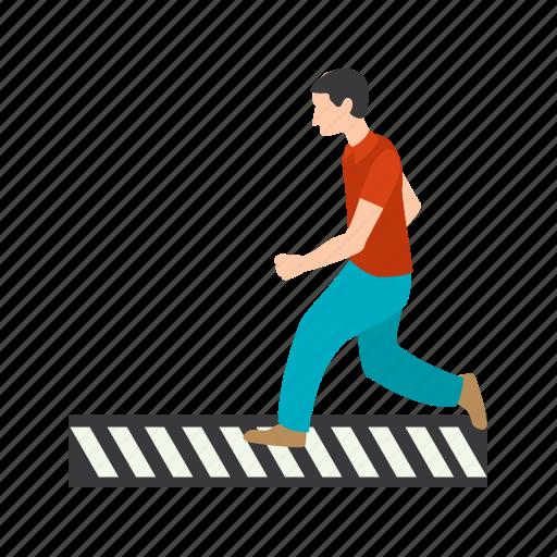 crossing, pedestrian, people, road, town, walk, zebra icon