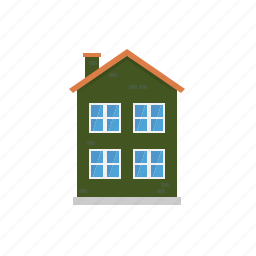 building, facade, home, house, small town, town, townhouse icon