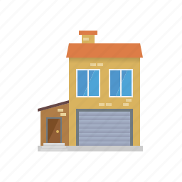 building, garage, home, house, small town, town, townhouse icon