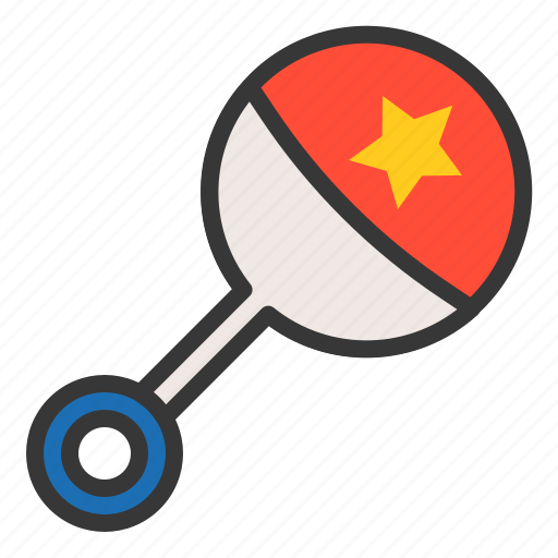 baby, bauble, game, maraca, plaything, toy icon