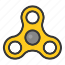 bauble, fidget, fidget spinner, game, plaything, spinner, toy icon
