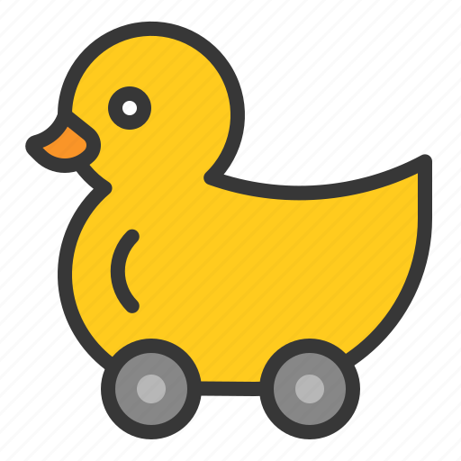 Toy, duck car, game, duck, bauble, plaything, rolling duck icon
