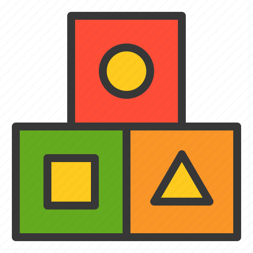 bauble, block, game, plaything, toy, toy block icon