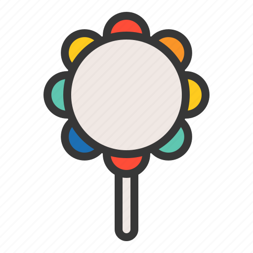 baby maraca, bauble, game, maraca, plaything, toy icon