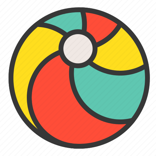 baby, ball, bauble, beach ball, game, plaything, toy icon