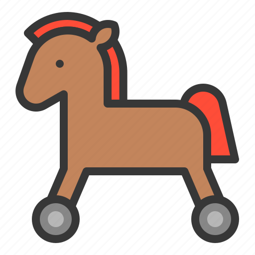 game, horse, horse car, plaything, riding, rolling horse, toy icon