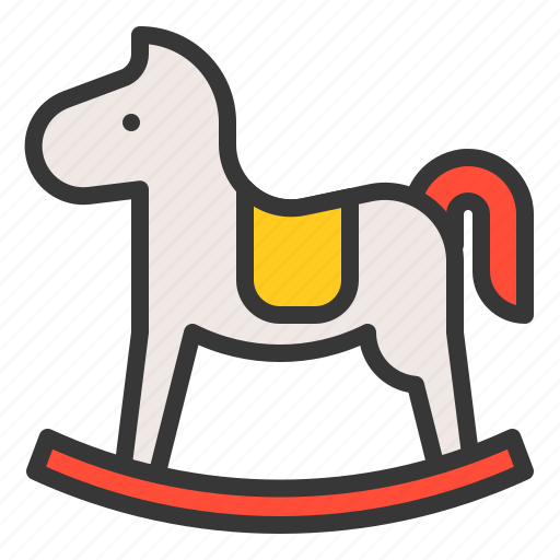 Toy, rocking horse, game, baby, bauble, plaything icon