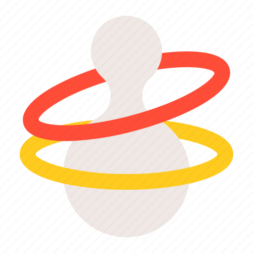 baby, bauble, game, plaything, ring toss, toy icon