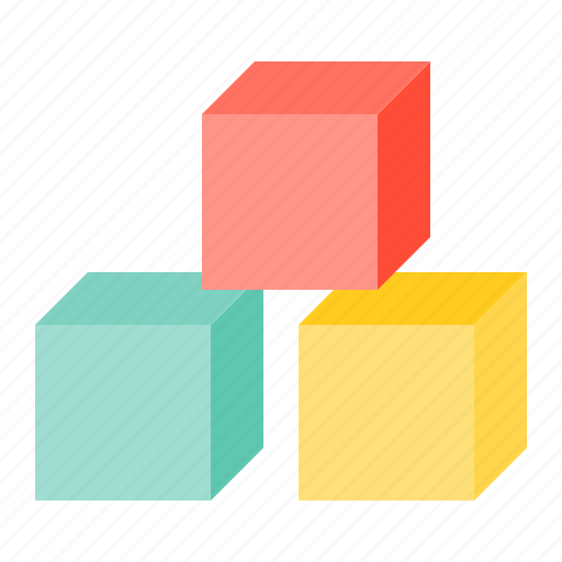 baby, bauble, block, game, plaything, toy icon