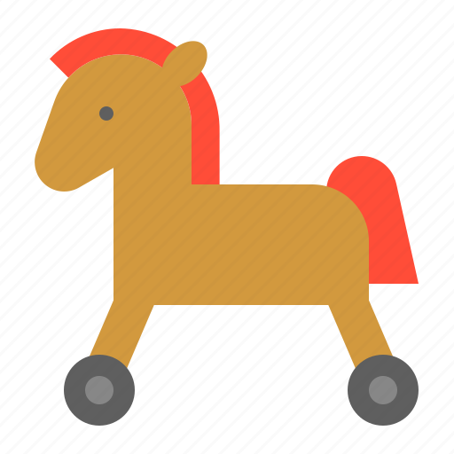baby, bauble, game, horse, horse car, plaything, toy icon
