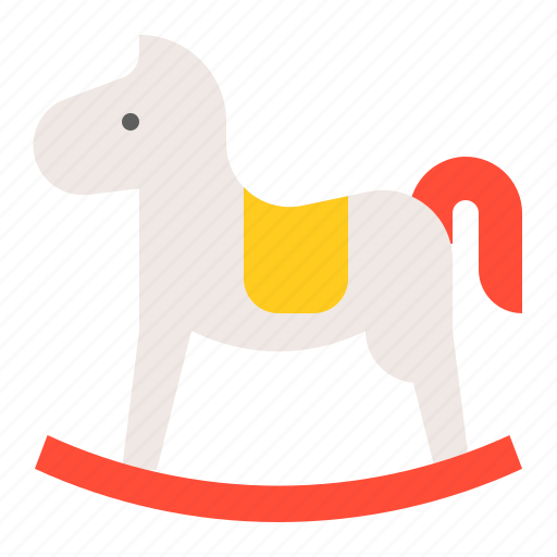 baby, bauble, game, plaything, rocking horse, toy icon