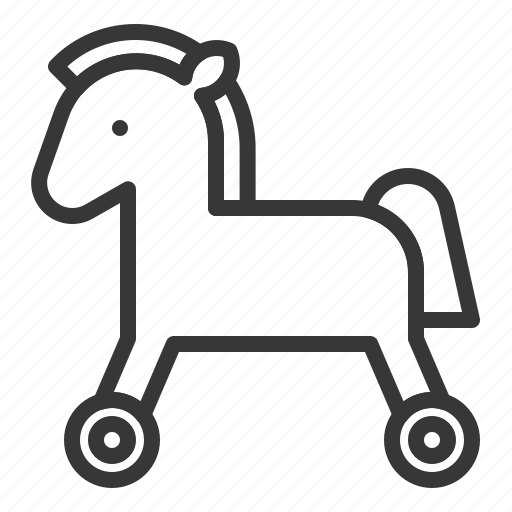 baby, bauble, children, game, horse, horse car, plaything, toy icon