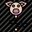 baby, balloon, children, pig, toy