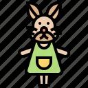 baby, children, doll, rabbit, toy