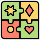 game, jigsaw, piece, puzzle, solution icon