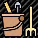 baby, bucket, children, sand, toy icon