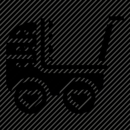 baby, bassinet, car, children, toy icon
