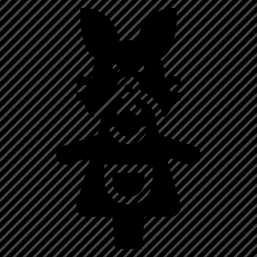 baby, children, doll, rabbit, toy icon